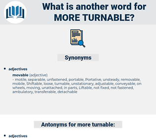 more turnable, synonym more turnable, another word for more turnable, words like more turnable, thesaurus more turnable