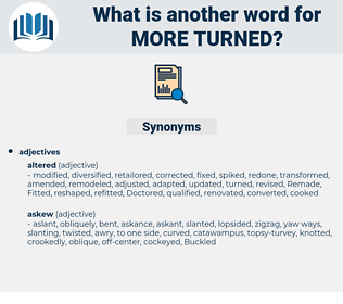 more turned, synonym more turned, another word for more turned, words like more turned, thesaurus more turned