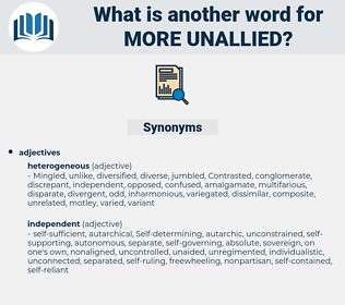 more unallied, synonym more unallied, another word for more unallied, words like more unallied, thesaurus more unallied