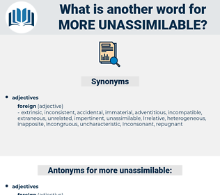 more unassimilable, synonym more unassimilable, another word for more unassimilable, words like more unassimilable, thesaurus more unassimilable