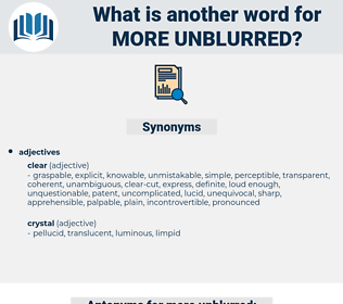 more unblurred, synonym more unblurred, another word for more unblurred, words like more unblurred, thesaurus more unblurred
