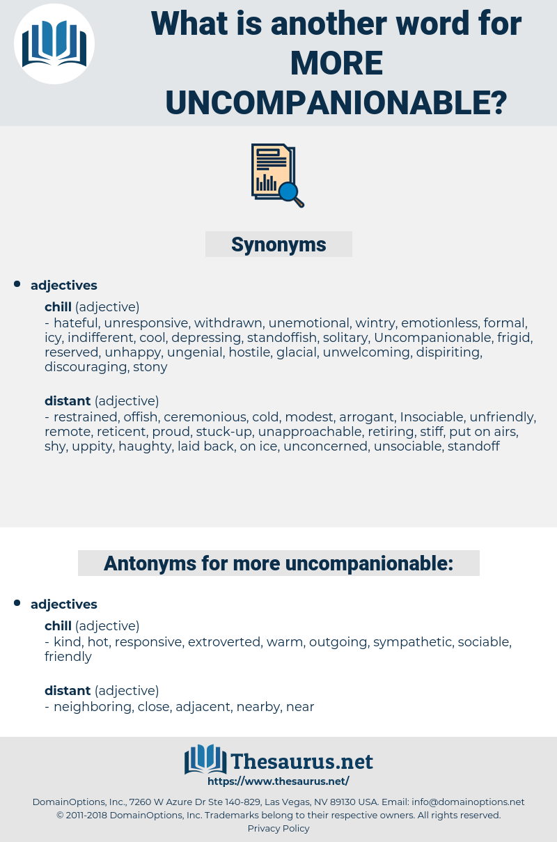 more uncompanionable, synonym more uncompanionable, another word for more uncompanionable, words like more uncompanionable, thesaurus more uncompanionable