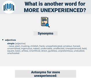more unexperienced, synonym more unexperienced, another word for more unexperienced, words like more unexperienced, thesaurus more unexperienced