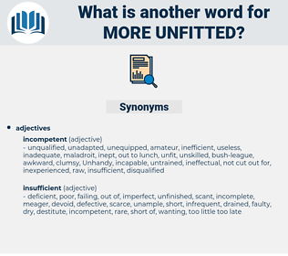 more unfitted, synonym more unfitted, another word for more unfitted, words like more unfitted, thesaurus more unfitted