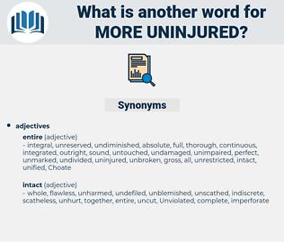 more uninjured, synonym more uninjured, another word for more uninjured, words like more uninjured, thesaurus more uninjured