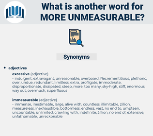 more unmeasurable, synonym more unmeasurable, another word for more unmeasurable, words like more unmeasurable, thesaurus more unmeasurable