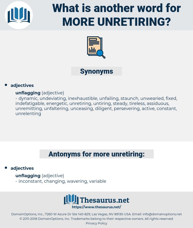 more unretiring, synonym more unretiring, another word for more unretiring, words like more unretiring, thesaurus more unretiring