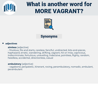 more vagrant, synonym more vagrant, another word for more vagrant, words like more vagrant, thesaurus more vagrant
