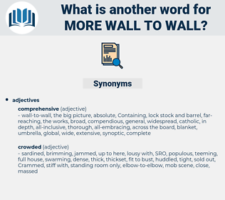 more wall to wall, synonym more wall to wall, another word for more wall to wall, words like more wall to wall, thesaurus more wall to wall