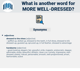 more well-dressed, synonym more well-dressed, another word for more well-dressed, words like more well-dressed, thesaurus more well-dressed
