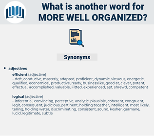 more well organized, synonym more well organized, another word for more well organized, words like more well organized, thesaurus more well organized