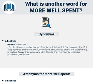 more well-spent, synonym more well-spent, another word for more well-spent, words like more well-spent, thesaurus more well-spent
