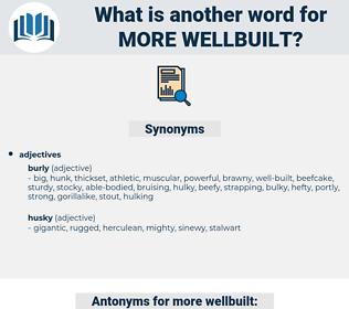 more wellbuilt, synonym more wellbuilt, another word for more wellbuilt, words like more wellbuilt, thesaurus more wellbuilt