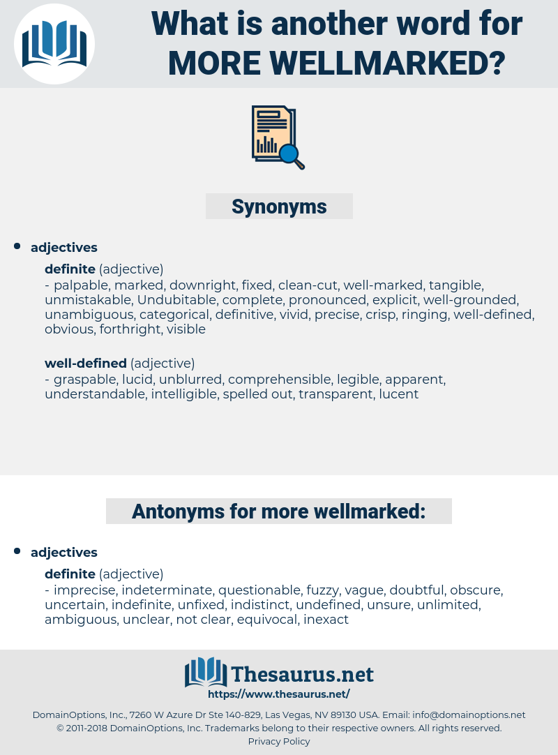 more wellmarked, synonym more wellmarked, another word for more wellmarked, words like more wellmarked, thesaurus more wellmarked