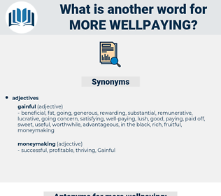 more wellpaying, synonym more wellpaying, another word for more wellpaying, words like more wellpaying, thesaurus more wellpaying