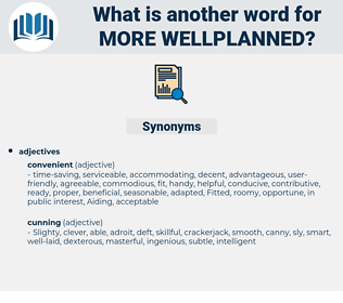 more wellplanned, synonym more wellplanned, another word for more wellplanned, words like more wellplanned, thesaurus more wellplanned
