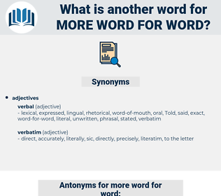 more word-for-word, synonym more word-for-word, another word for more word-for-word, words like more word-for-word, thesaurus more word-for-word
