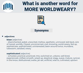 more worldweary, synonym more worldweary, another word for more worldweary, words like more worldweary, thesaurus more worldweary