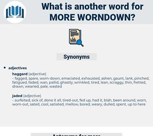 more worndown, synonym more worndown, another word for more worndown, words like more worndown, thesaurus more worndown