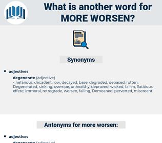 more worsen, synonym more worsen, another word for more worsen, words like more worsen, thesaurus more worsen