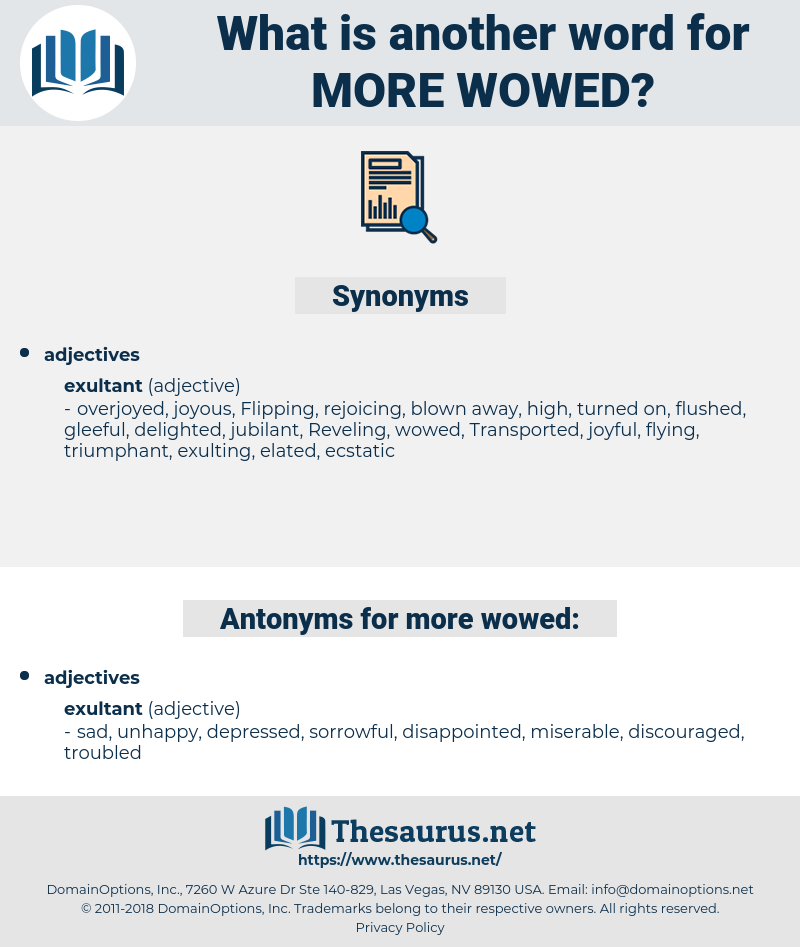 more wowed, synonym more wowed, another word for more wowed, words like more wowed, thesaurus more wowed