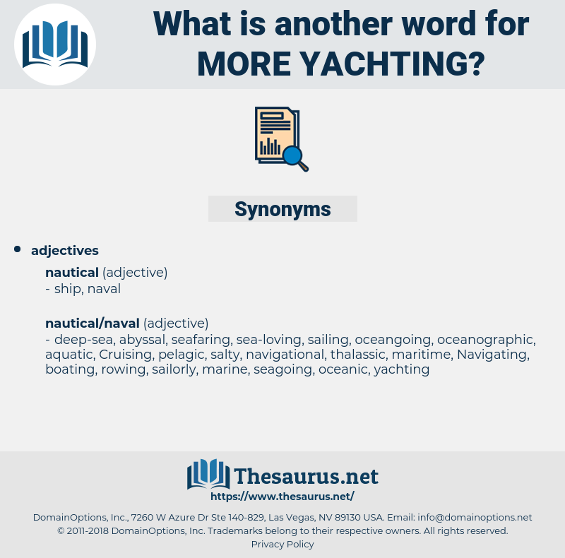 more yachting, synonym more yachting, another word for more yachting, words like more yachting, thesaurus more yachting