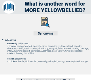 more yellowbellied, synonym more yellowbellied, another word for more yellowbellied, words like more yellowbellied, thesaurus more yellowbellied