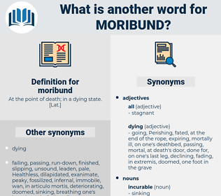 moribund, synonym moribund, another word for moribund, words like moribund, thesaurus moribund