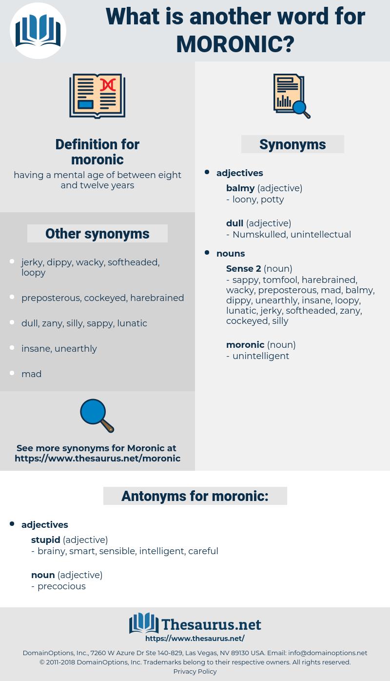 moronic, synonym moronic, another word for moronic, words like moronic, thesaurus moronic