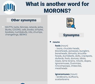 morons, synonym morons, another word for morons, words like morons, thesaurus morons