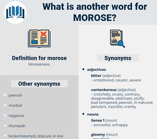 morose, synonym morose, another word for morose, words like morose, thesaurus morose