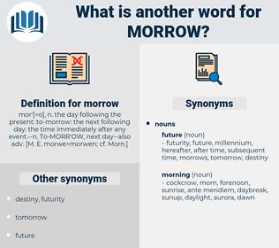 morrow, synonym morrow, another word for morrow, words like morrow, thesaurus morrow