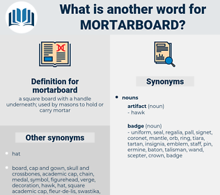 mortarboard, synonym mortarboard, another word for mortarboard, words like mortarboard, thesaurus mortarboard