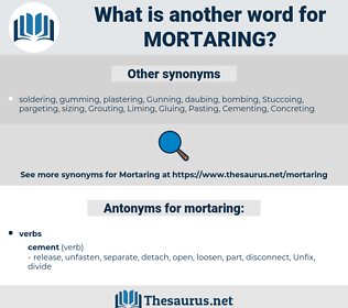 mortaring, synonym mortaring, another word for mortaring, words like mortaring, thesaurus mortaring
