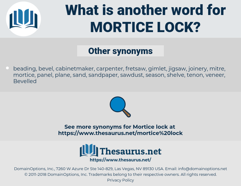mortice lock, synonym mortice lock, another word for mortice lock, words like mortice lock, thesaurus mortice lock