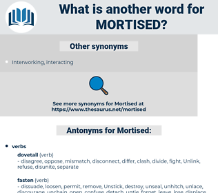 Mortised, synonym Mortised, another word for Mortised, words like Mortised, thesaurus Mortised