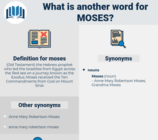 moses, synonym moses, another word for moses, words like moses, thesaurus moses