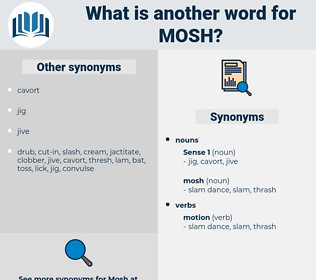 mosh, synonym mosh, another word for mosh, words like mosh, thesaurus mosh