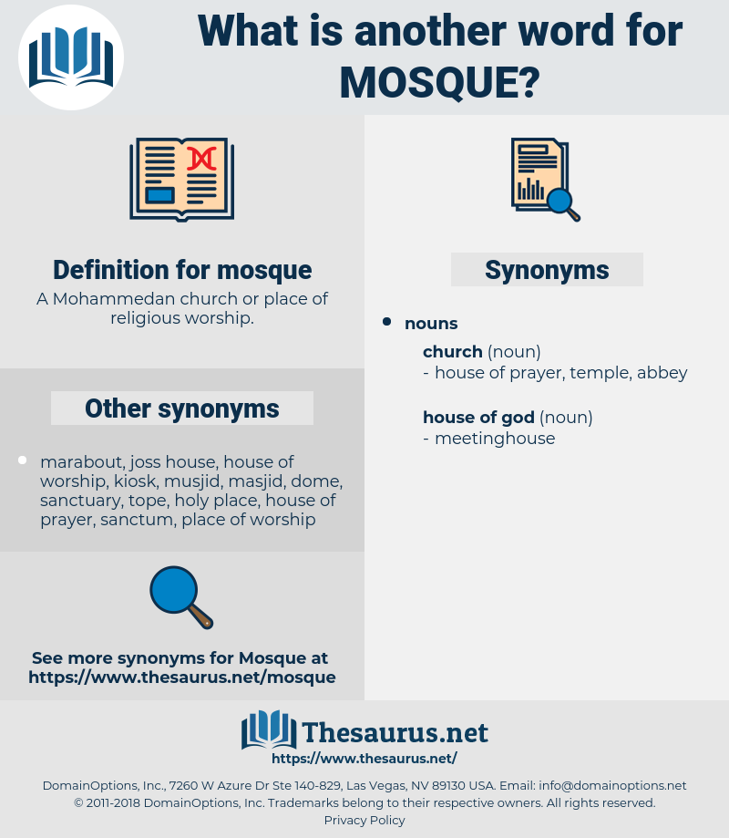 mosque, synonym mosque, another word for mosque, words like mosque, thesaurus mosque