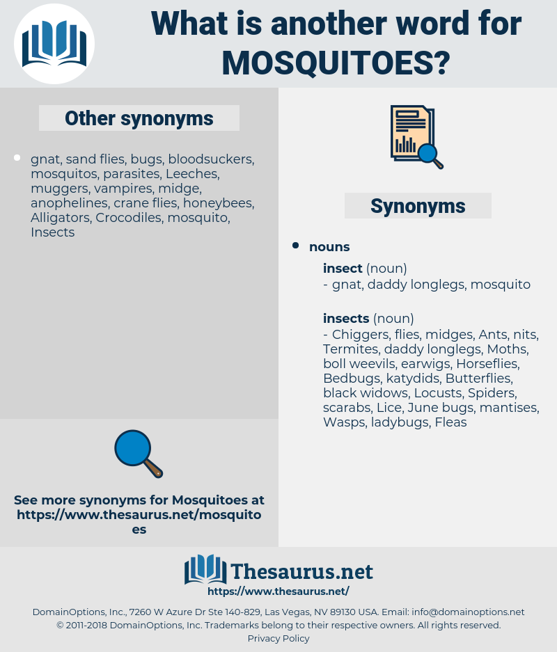 Mosquitoes, synonym Mosquitoes, another word for Mosquitoes, words like Mosquitoes, thesaurus Mosquitoes