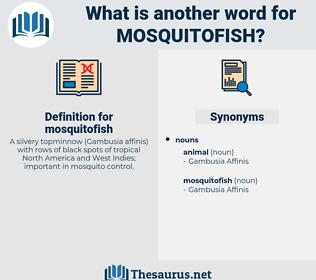 mosquitofish, synonym mosquitofish, another word for mosquitofish, words like mosquitofish, thesaurus mosquitofish
