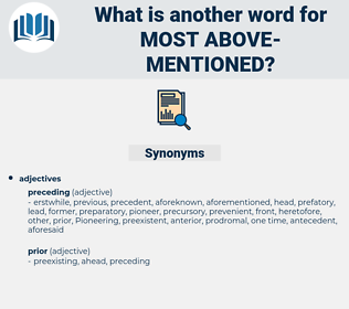 most above-mentioned, synonym most above-mentioned, another word for most above-mentioned, words like most above-mentioned, thesaurus most above-mentioned