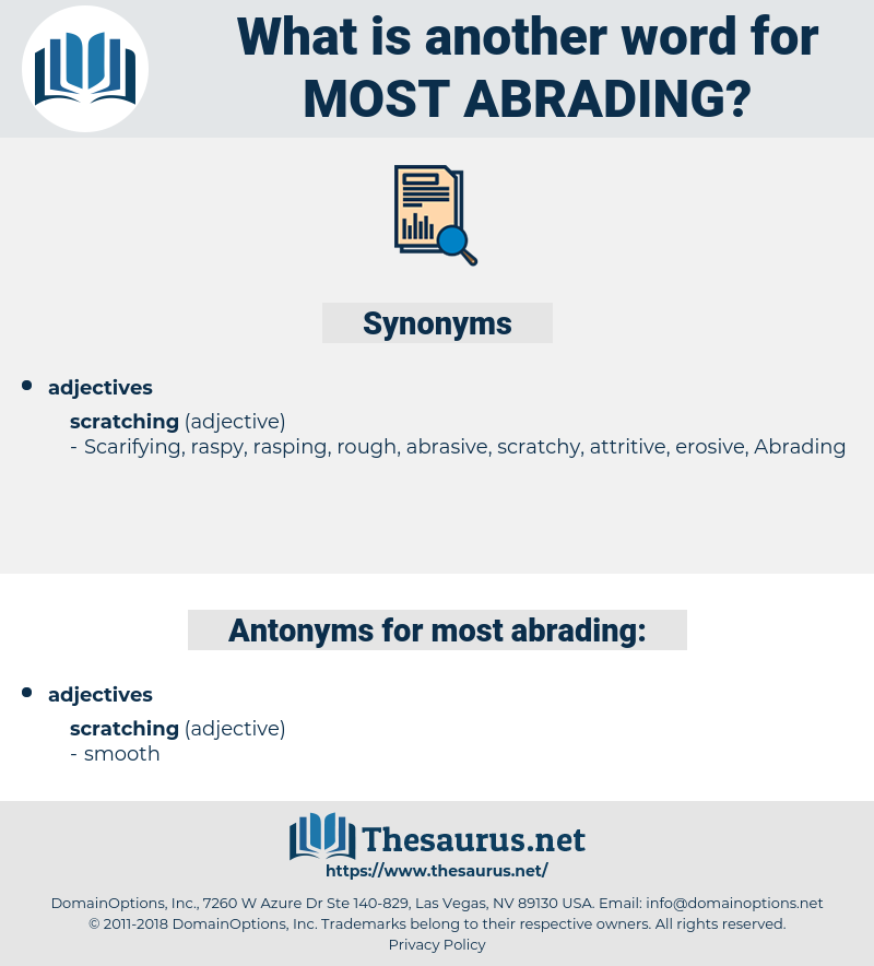 most abrading, synonym most abrading, another word for most abrading, words like most abrading, thesaurus most abrading