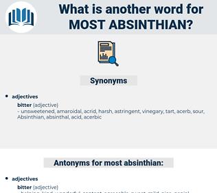 most absinthian, synonym most absinthian, another word for most absinthian, words like most absinthian, thesaurus most absinthian