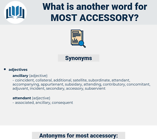 most accessory, synonym most accessory, another word for most accessory, words like most accessory, thesaurus most accessory