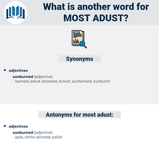 most adust, synonym most adust, another word for most adust, words like most adust, thesaurus most adust