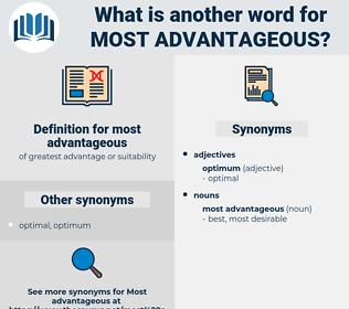 most advantageous, synonym most advantageous, another word for most advantageous, words like most advantageous, thesaurus most advantageous