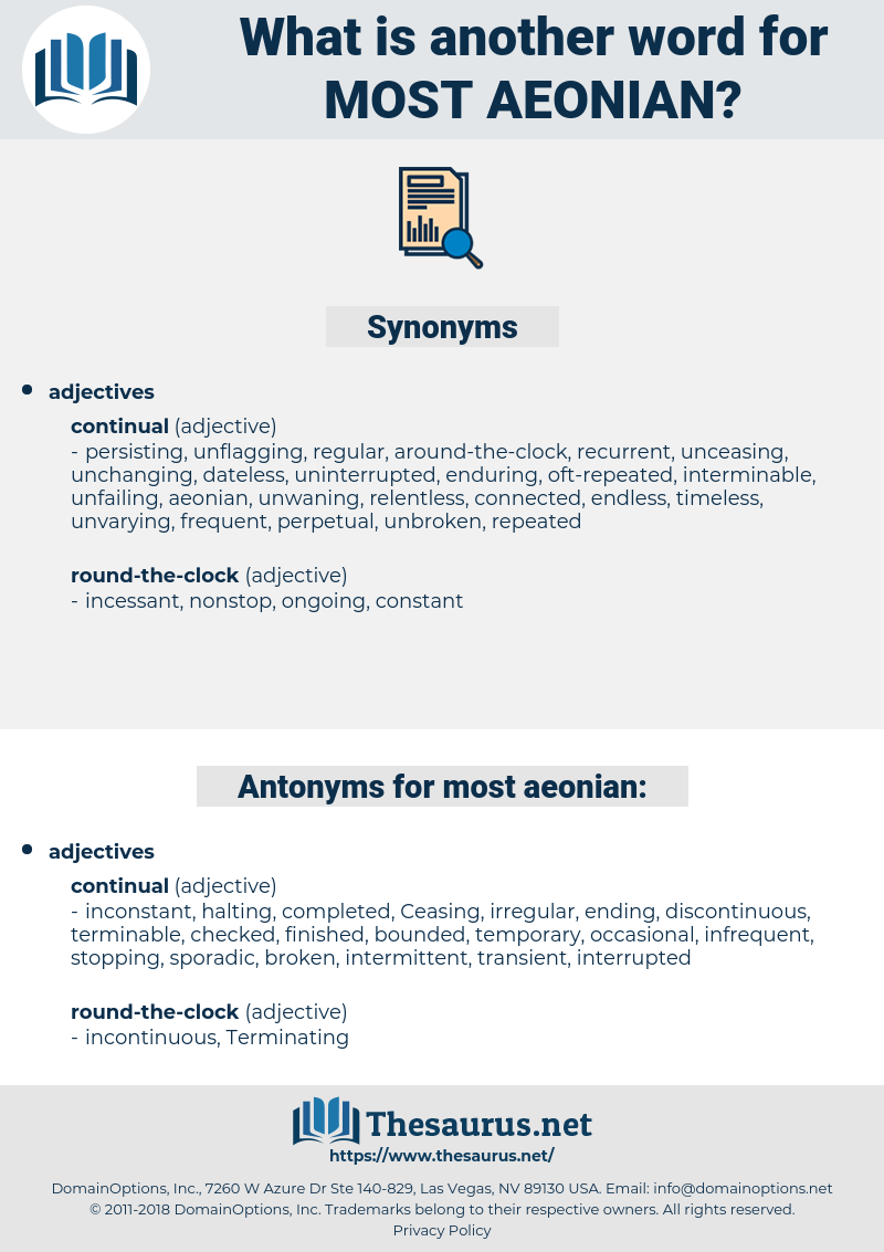 most aeonian, synonym most aeonian, another word for most aeonian, words like most aeonian, thesaurus most aeonian