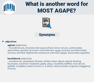 most agape, synonym most agape, another word for most agape, words like most agape, thesaurus most agape