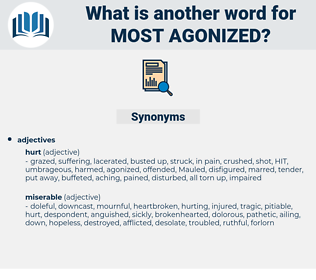 most agonized, synonym most agonized, another word for most agonized, words like most agonized, thesaurus most agonized